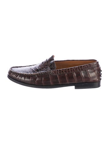 tod s alligator slip on loafers shoes tod42616 the