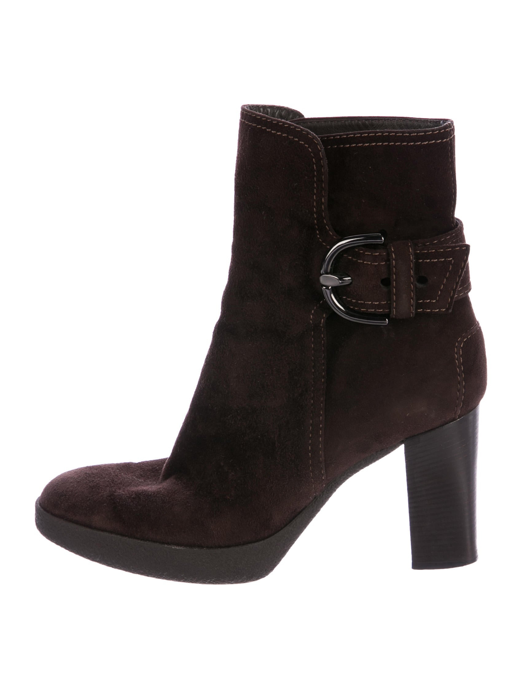 tod s buckle accented suede ankle boots shoes tod42888