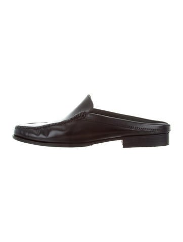 Tod's Leather Square-Toe Mules None
