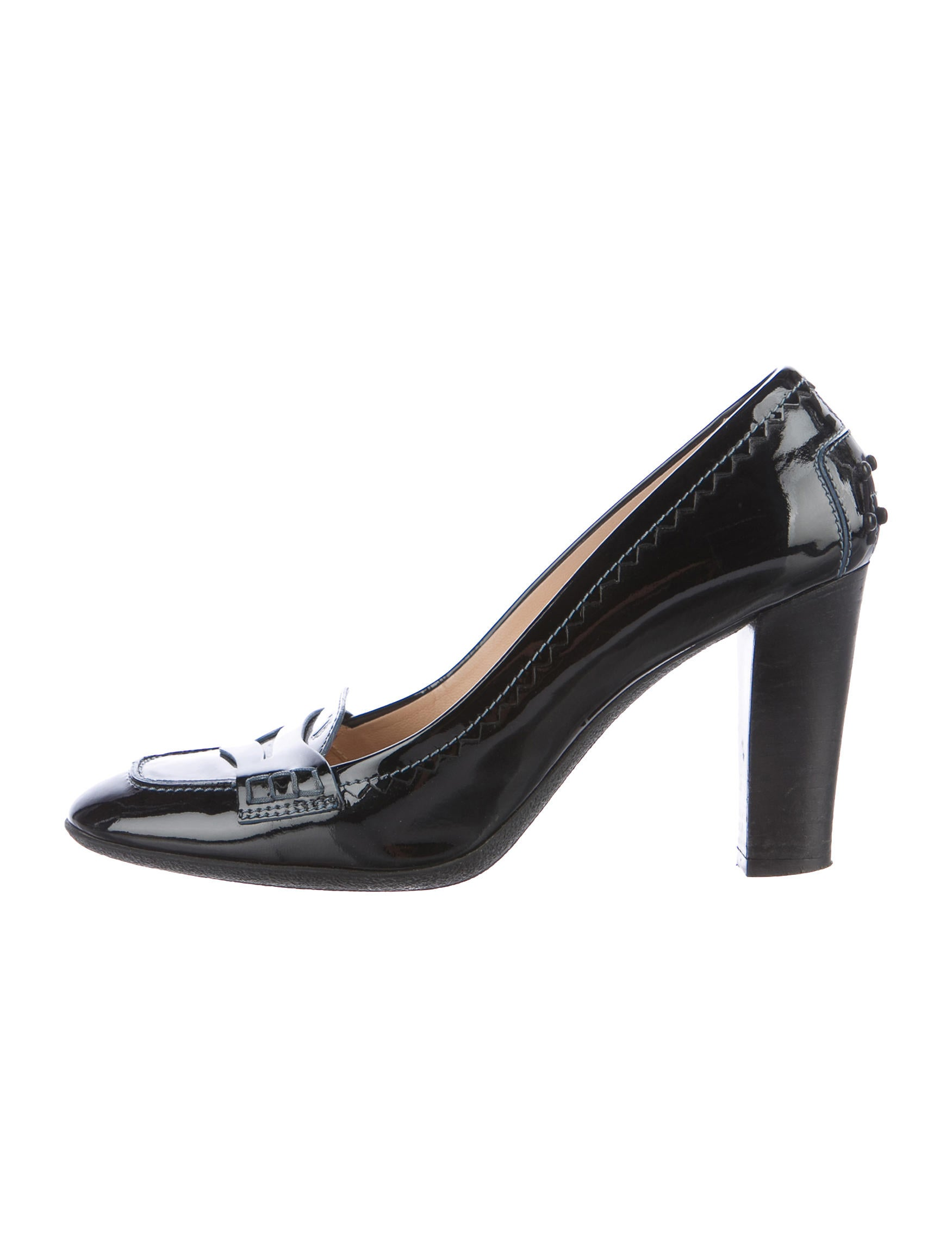 discount visit new Tod's Round-Toe Patent Leather Pumps 2015 new sale online cheap 2014 unisex rfxRhy