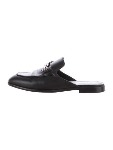 Tod's Logo Leather Mules None