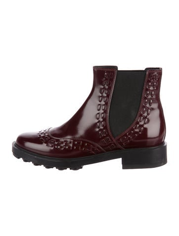 classic cheap price cheap sale get to buy Tod's Leather Round-Toe Boots EP6FY
