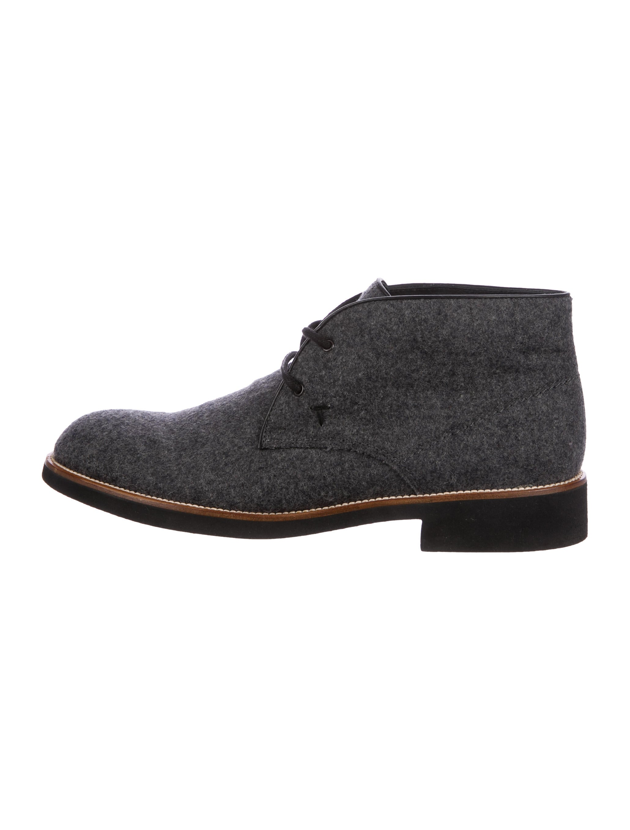 tod 39 s wool desert boots shoes tod44098 the realreal. Black Bedroom Furniture Sets. Home Design Ideas