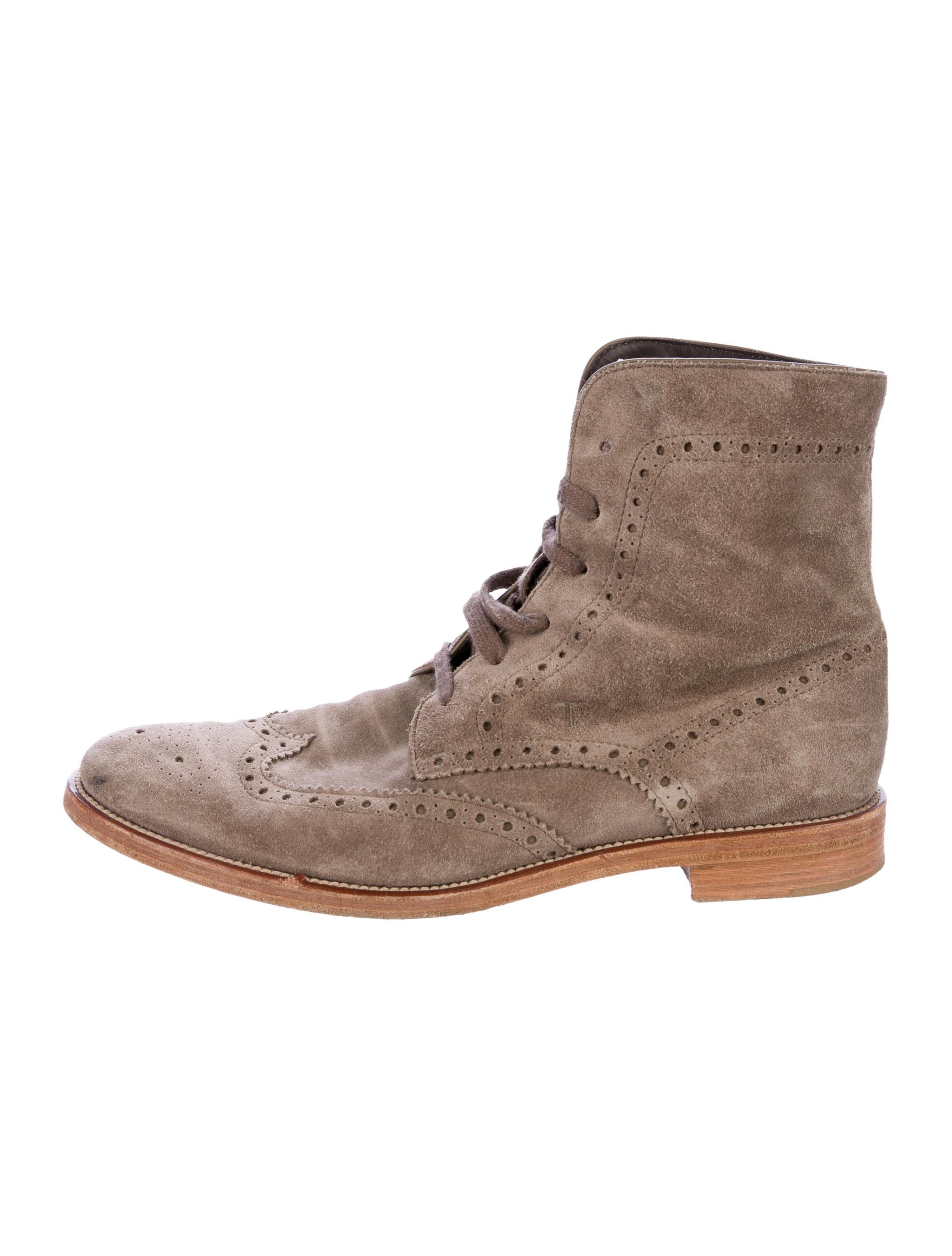 tod s suede brogue ankle boots shoes tod44132 the