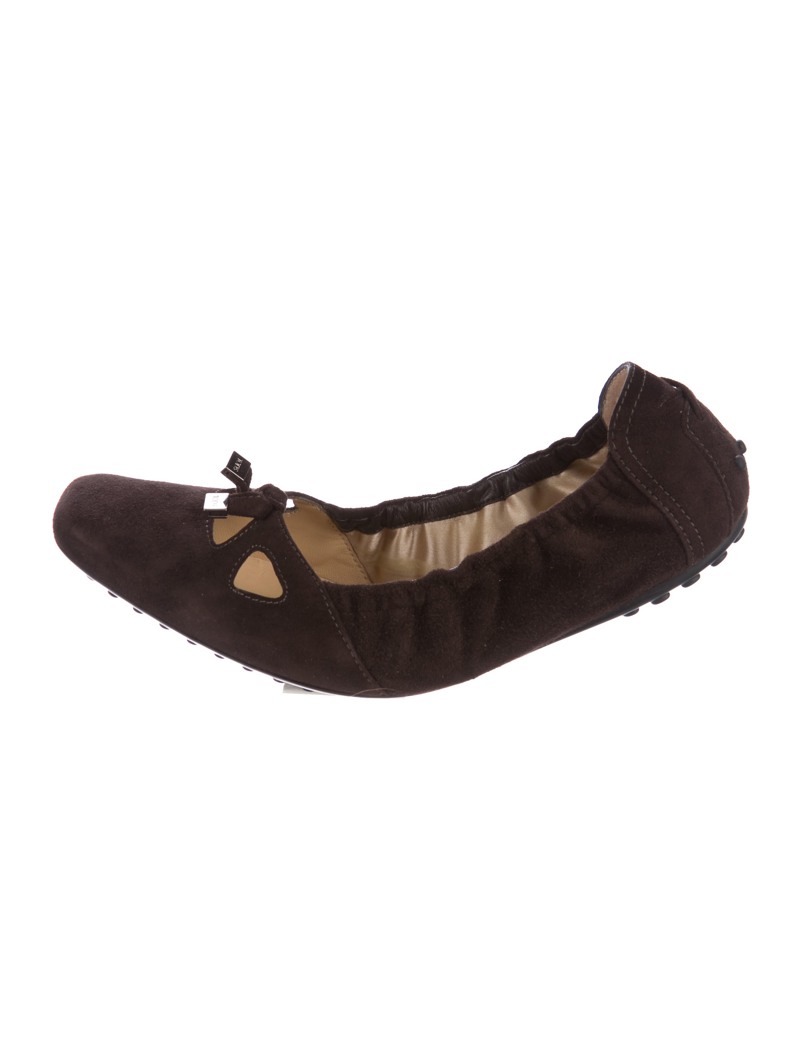 Tod's Suede Square-Toe Flats fashionable cheap price YHJlWIP
