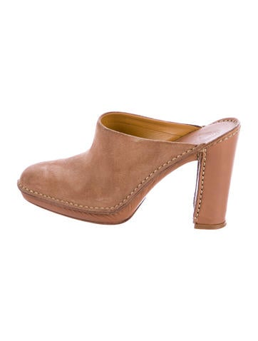 Tod's Suede Round-Toe Mules None