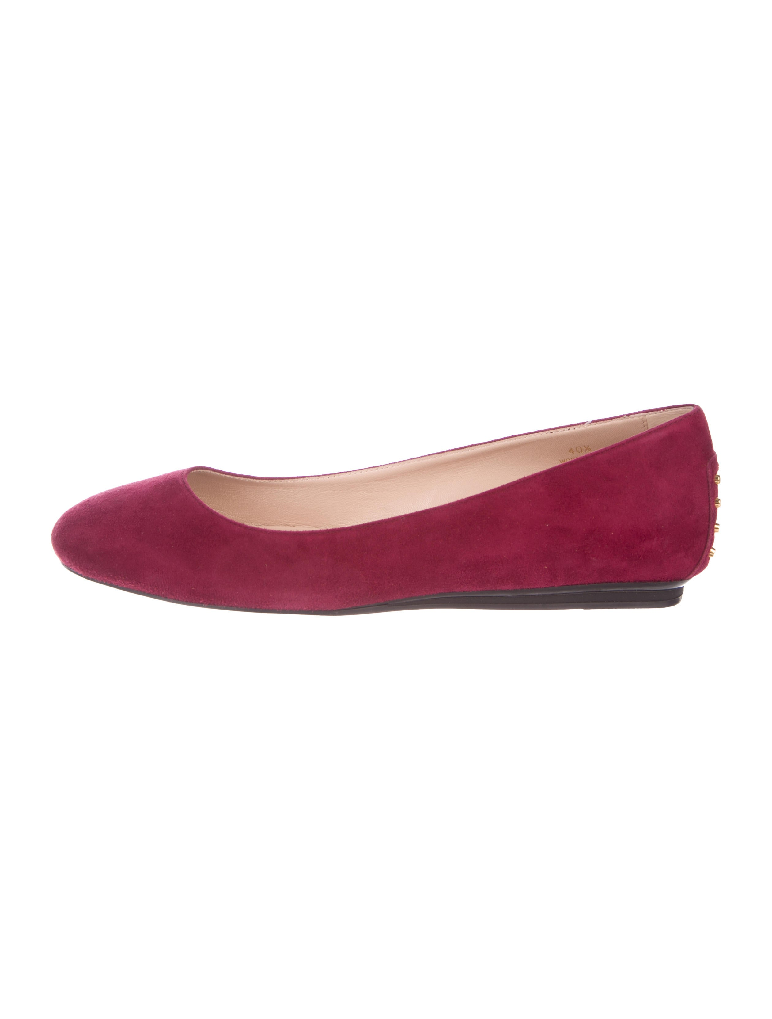 outlet ebay Tod's Suede Round-Toe Flats w/ Tags release dates online htiIQOLDx7