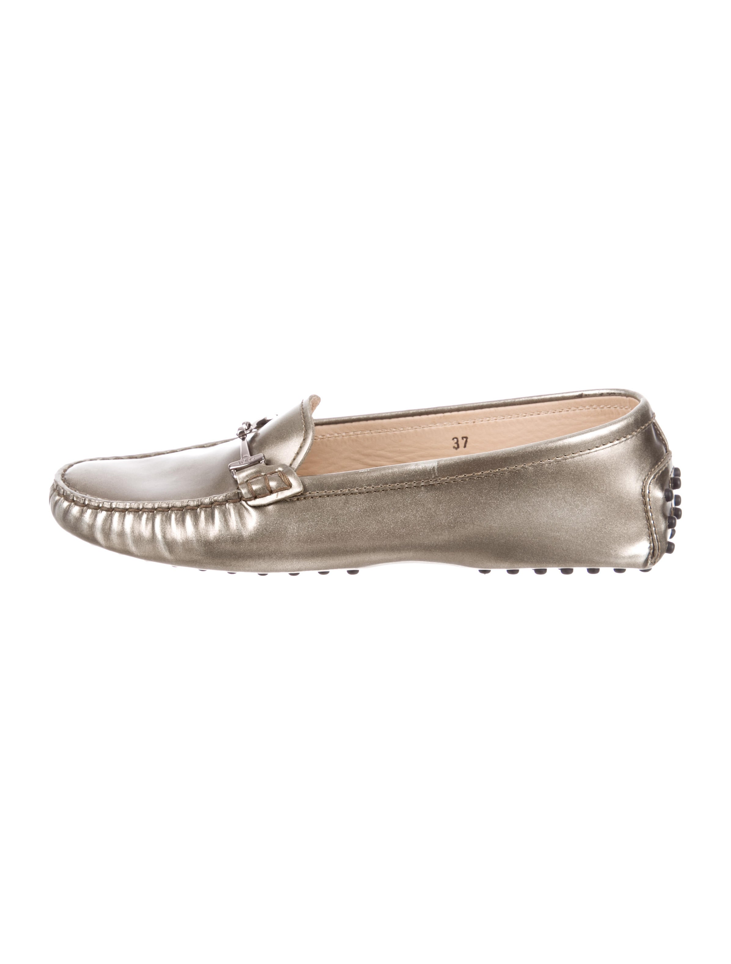 Tod's Metallic Round-Toe Oxfords purchase official outlet get authentic 1sBkSIhC