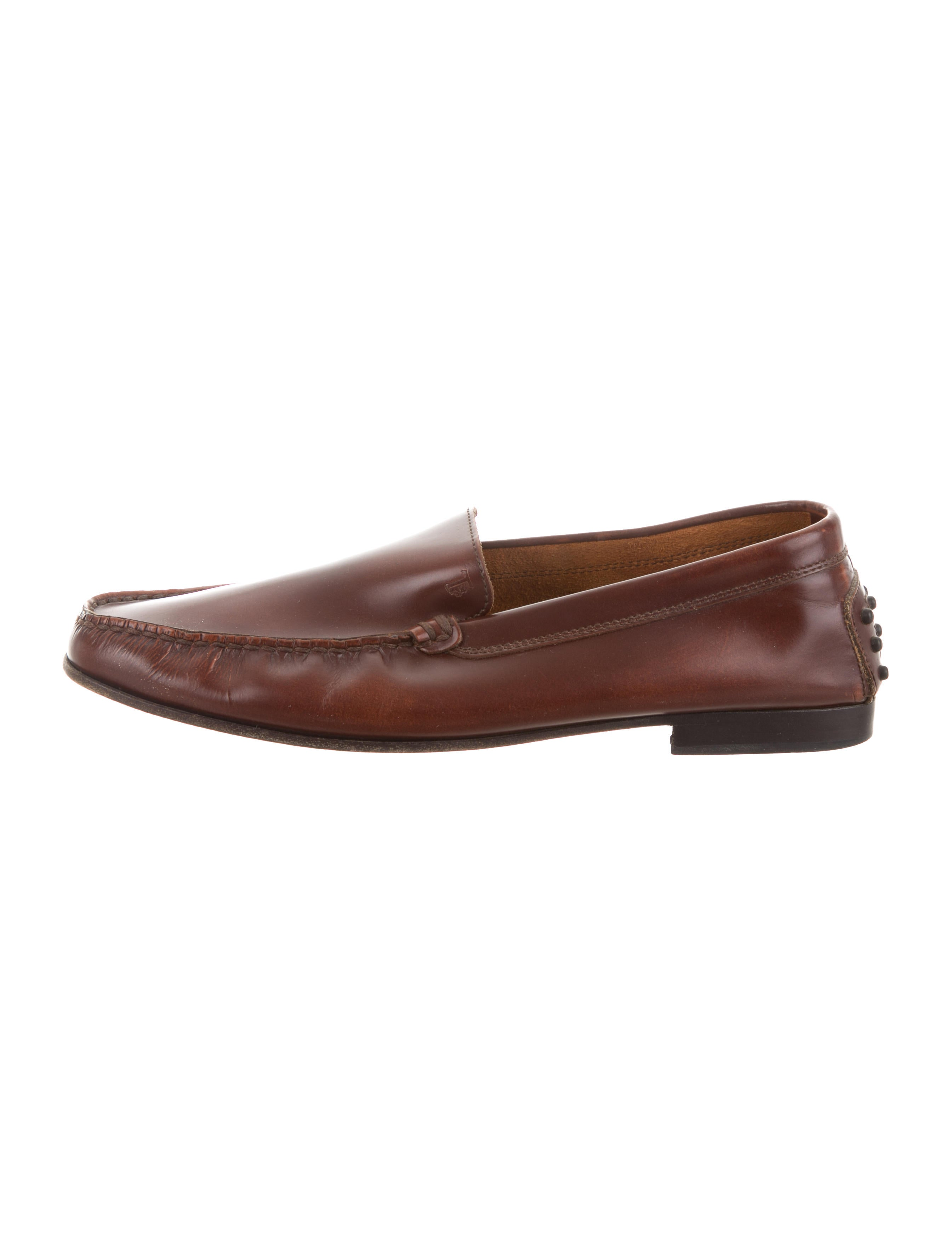 clearance amazing price Tod's Burnished Square-Toe Loafers latest for sale rkuPaFvvg