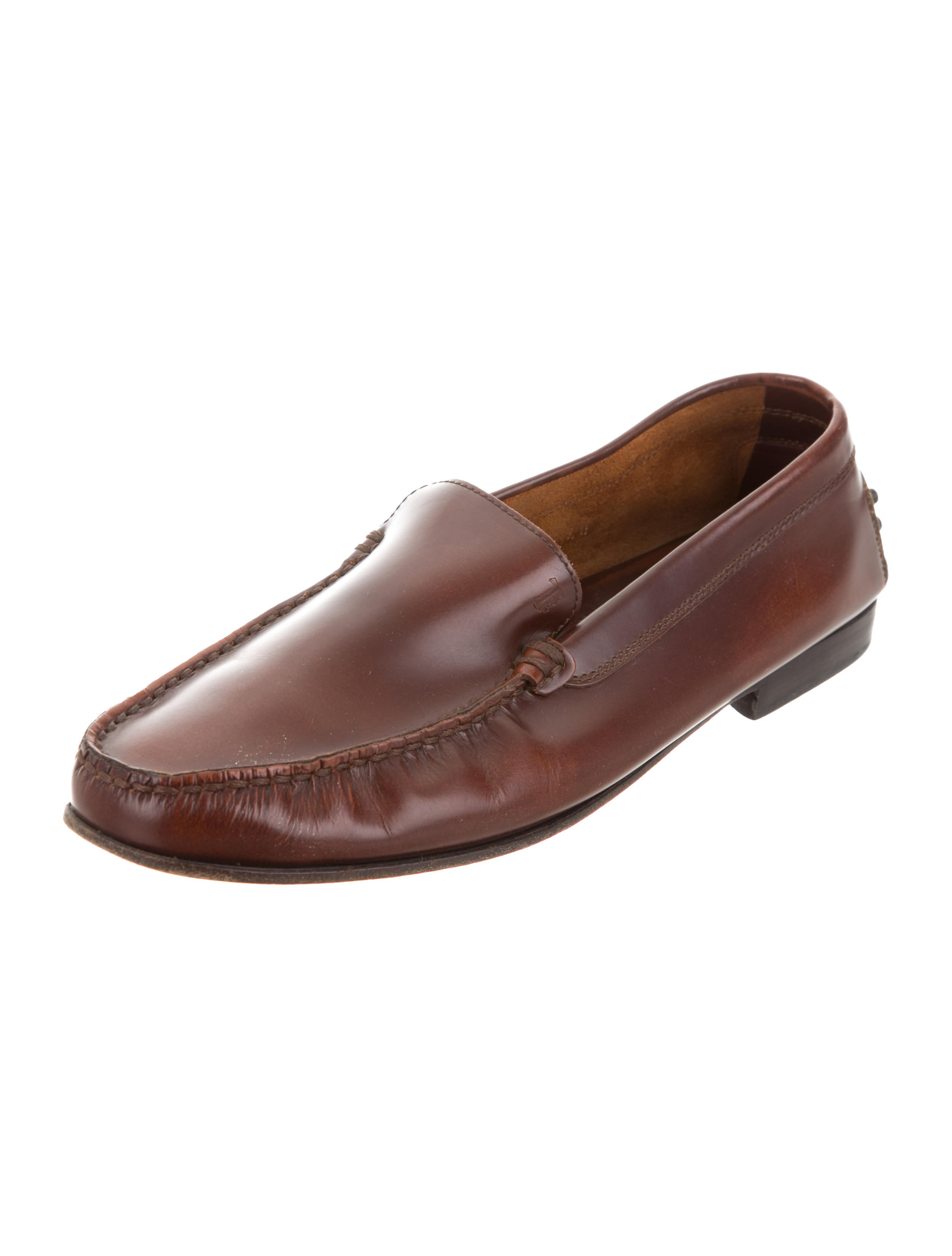 Tod's Burnished Square-Toe Loafers outlet locations for sale WHq8rjBT0