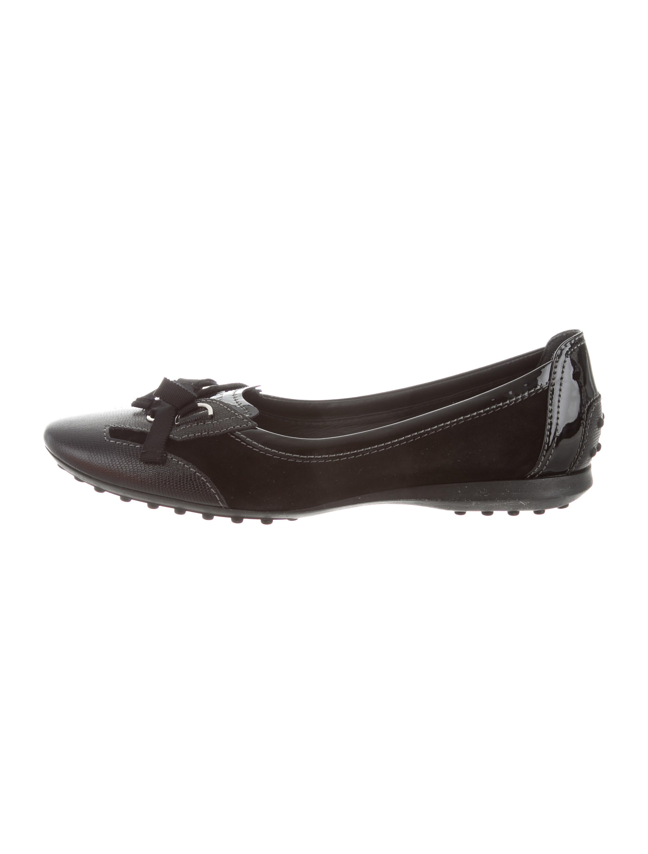 cheap in China Tod's Suede Square-Toe Flats w/ Tags cheap sale really free shipping purchase big sale cheap online clearance clearance E5CMw