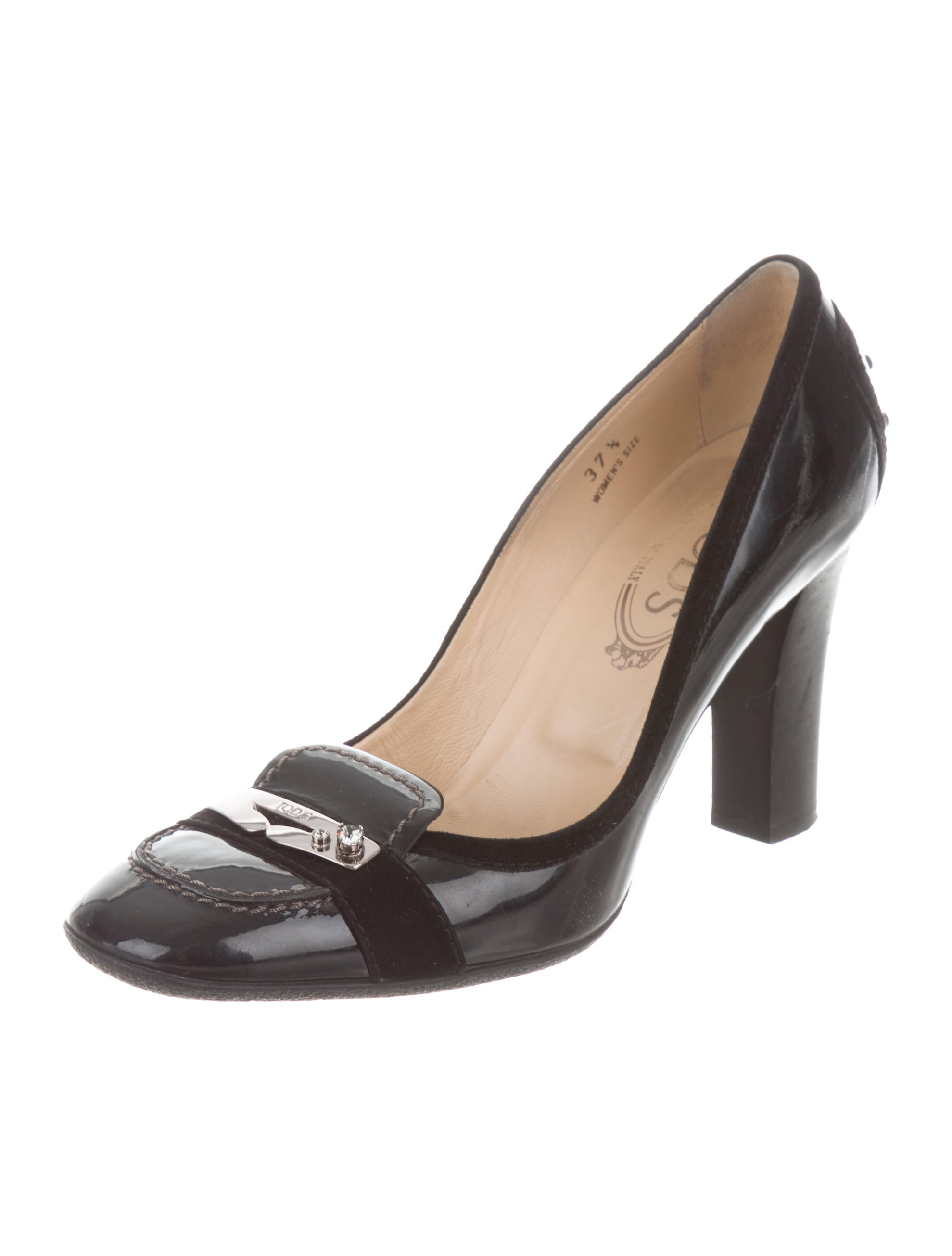 Tod's Leather Square-Toe Pumps buy cheap shopping online cheap wholesale cheap deals vnpH8ItSiA