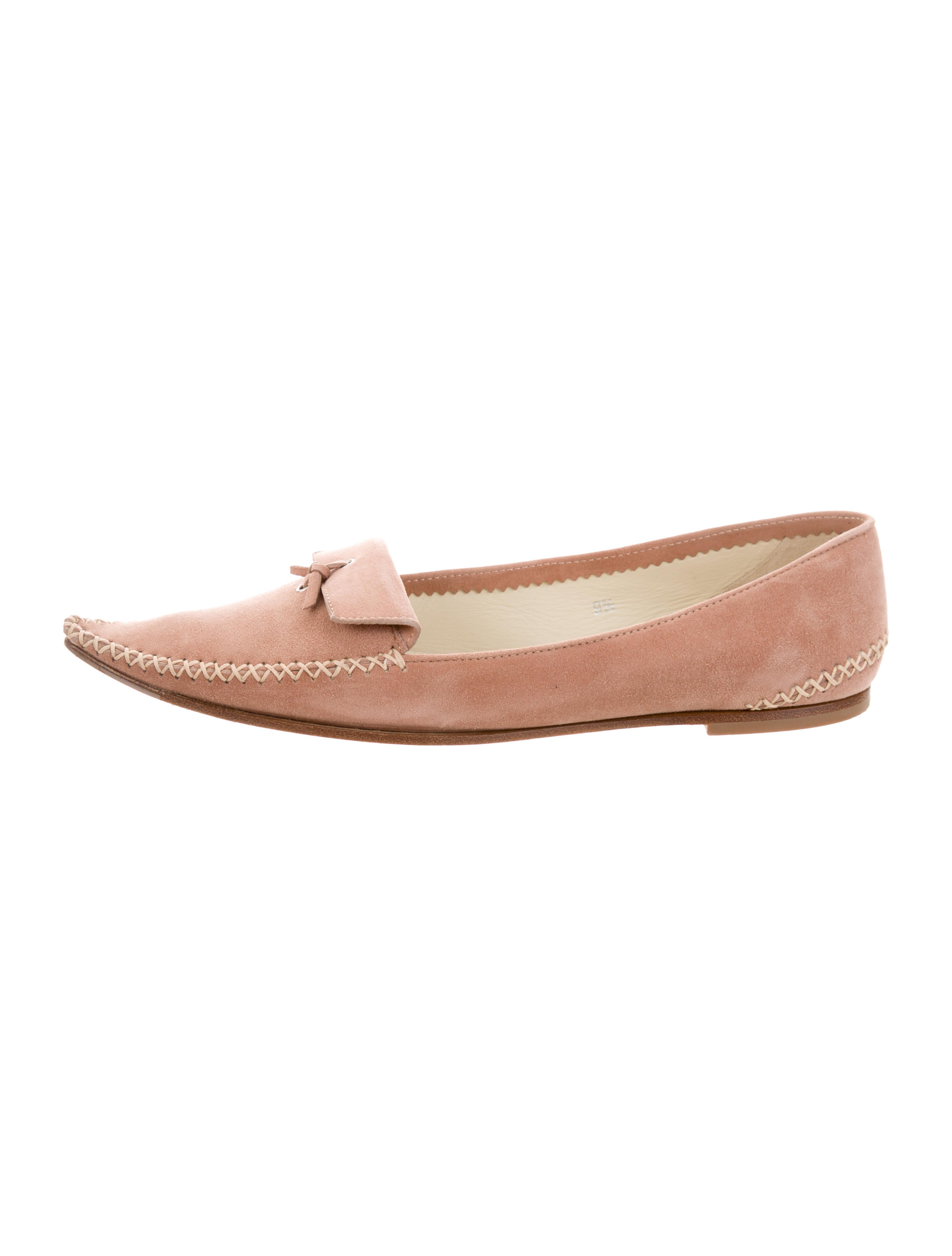 clearance store cheap free shipping Tod's Suede Pointed-Toe Loafers affordable online eugoFw