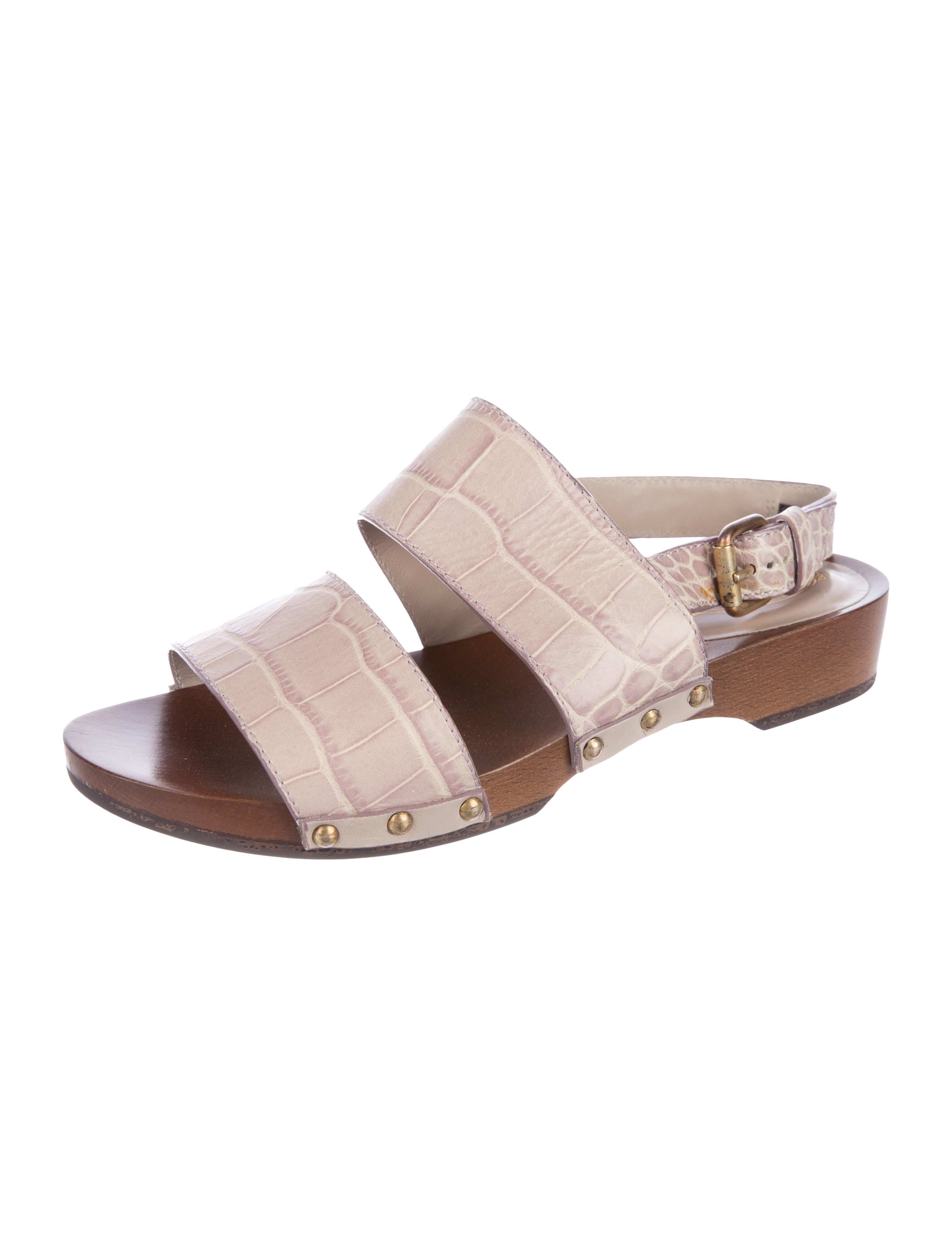 Tod's Embossed Slingback Sandals supply cheap online MWro1