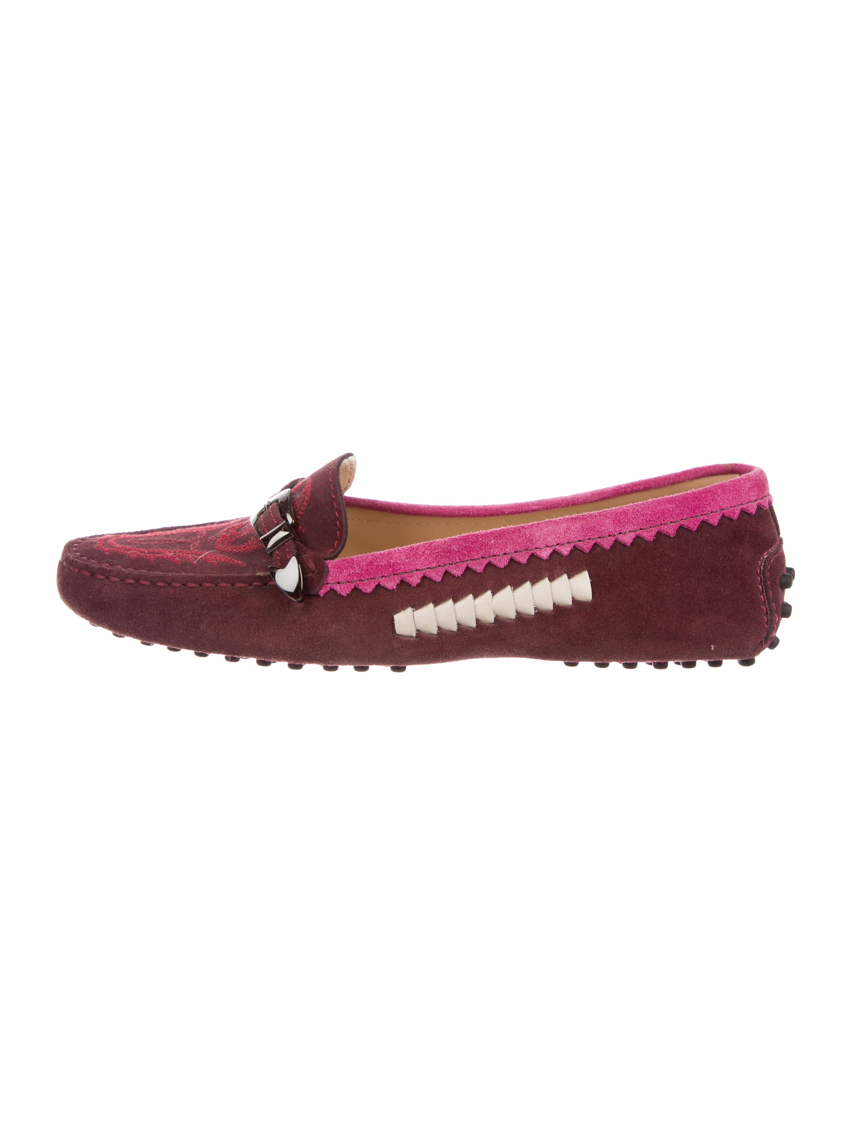 Tod's Suede Embroidered Loafers 100% original online sale really for cheap tumblr online VdqHy