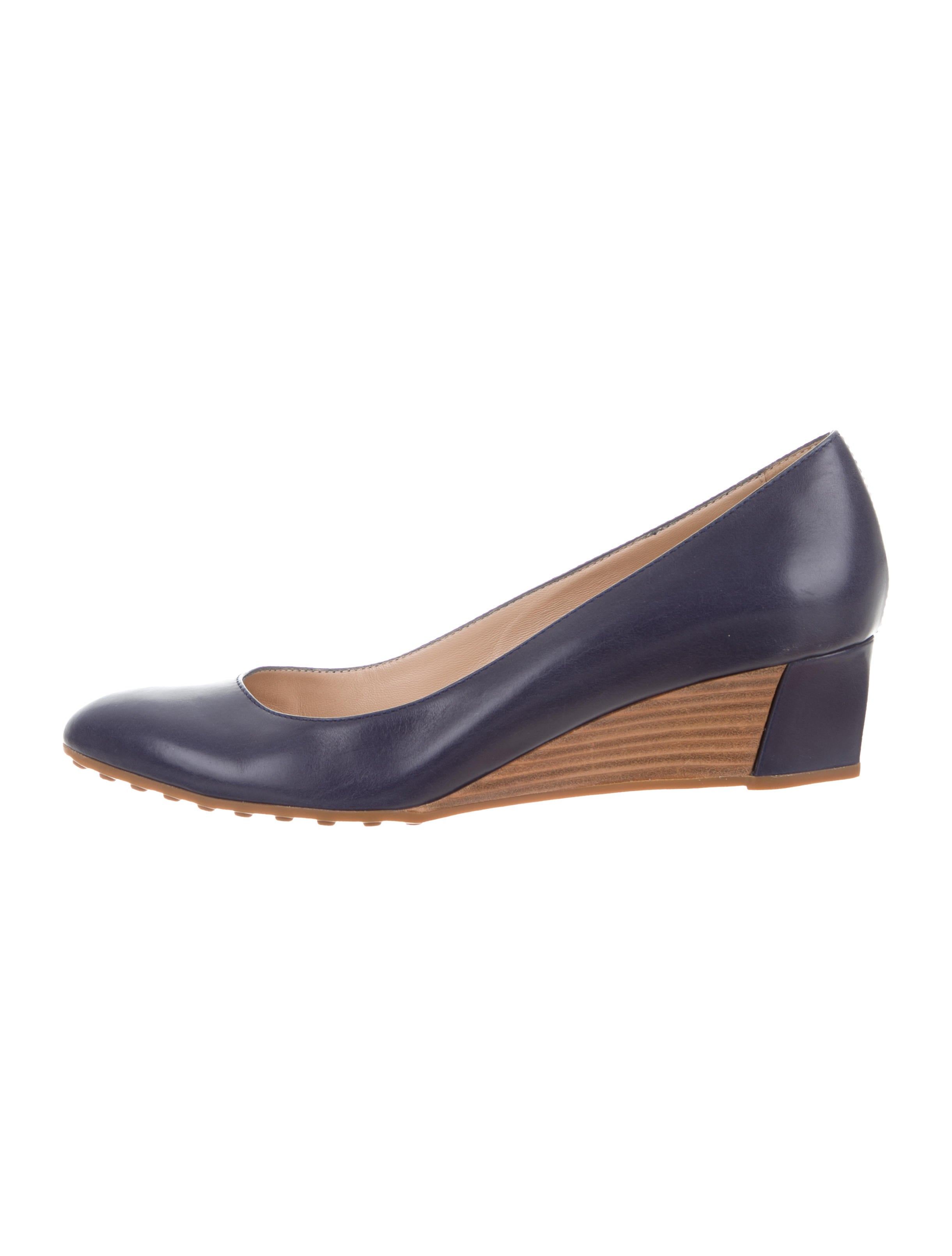 buy cheap 100% authentic Tod's Round-Toe Wedge Pumps discount for sale OTUFp1ZzX