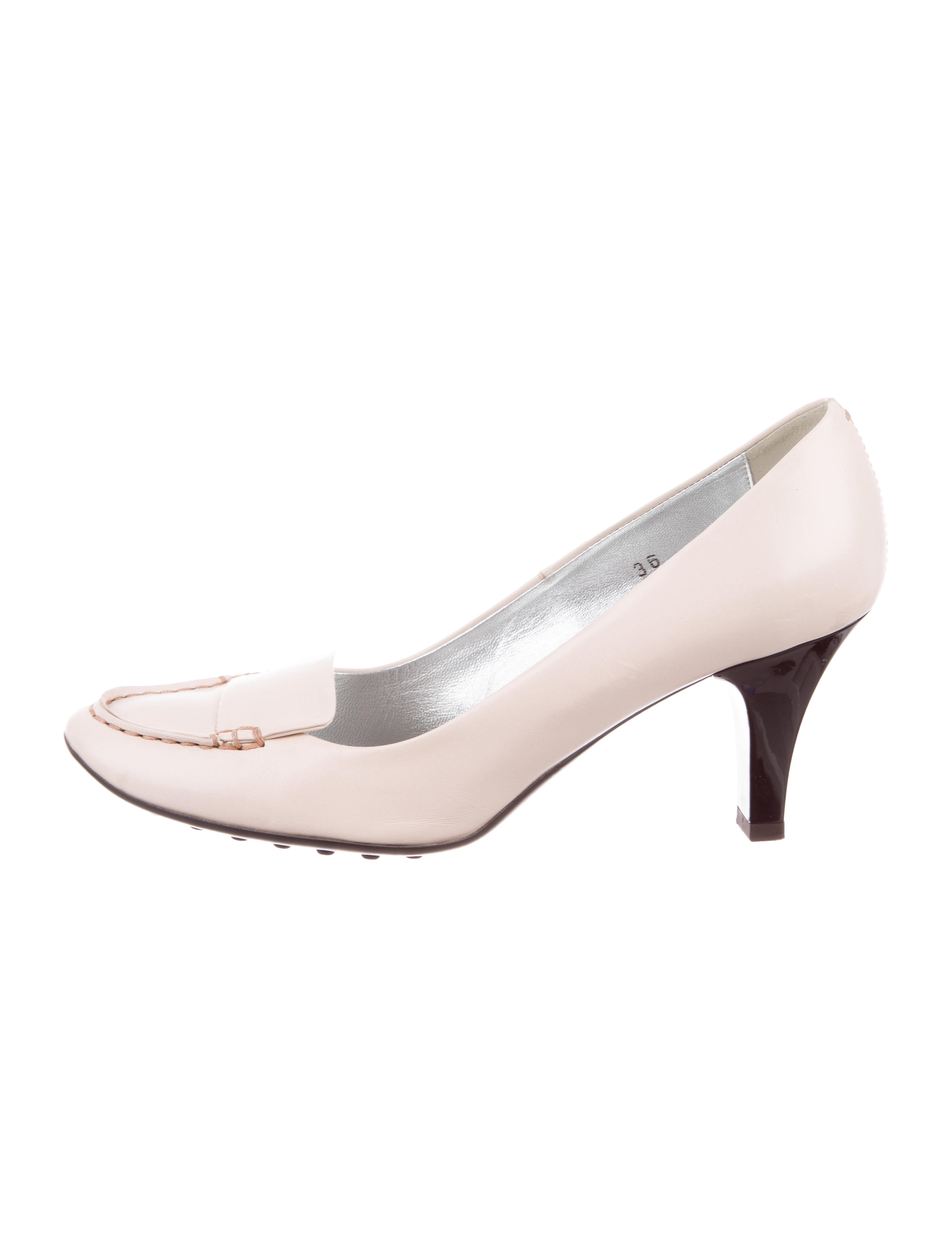 Tod's Round-Toe Loafer Pumps sale discounts free shipping prices B3FTXI