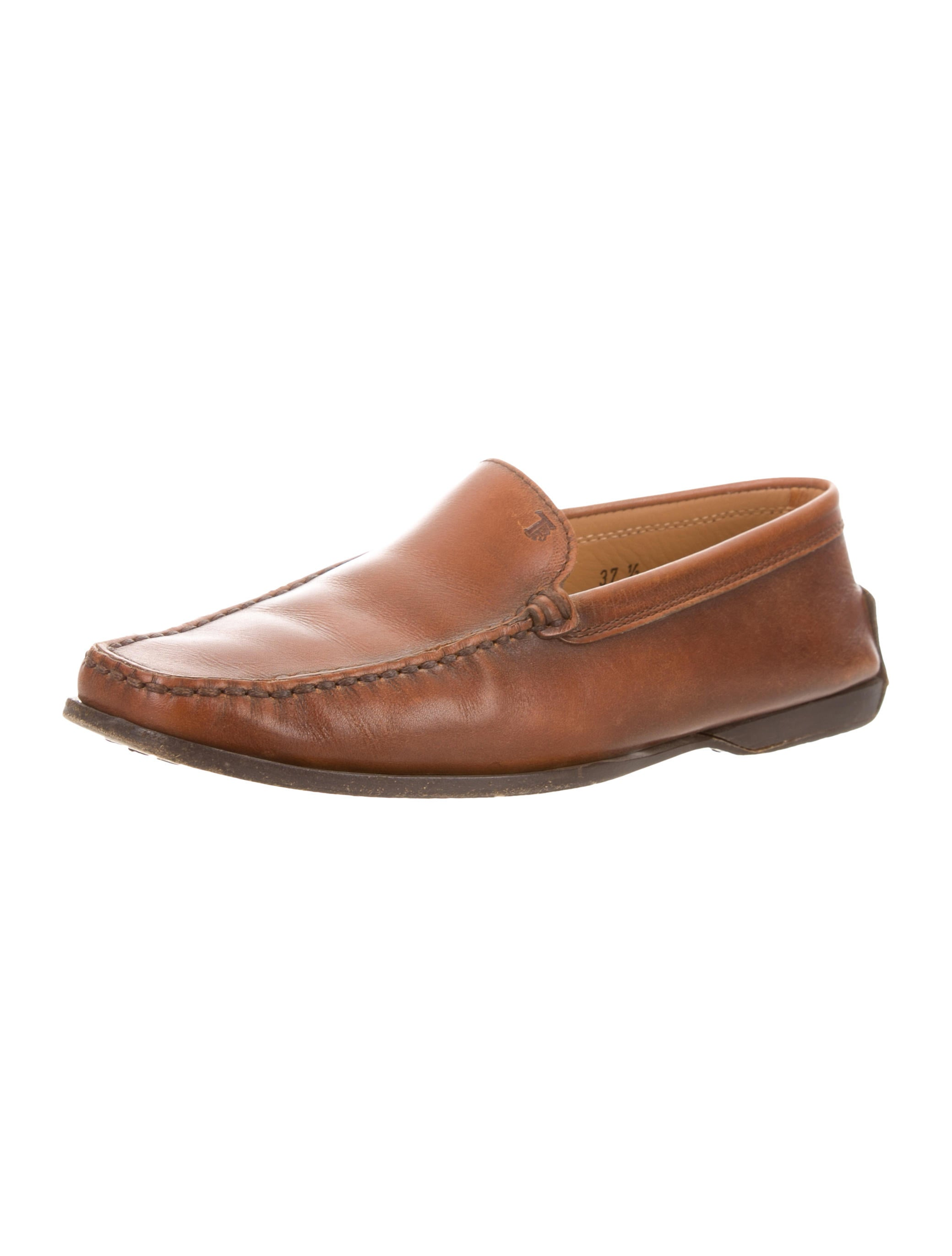 Tod's Leather Round-Toe Loafers cheap sale classic free shipping pay with paypal 594WwhC4HM