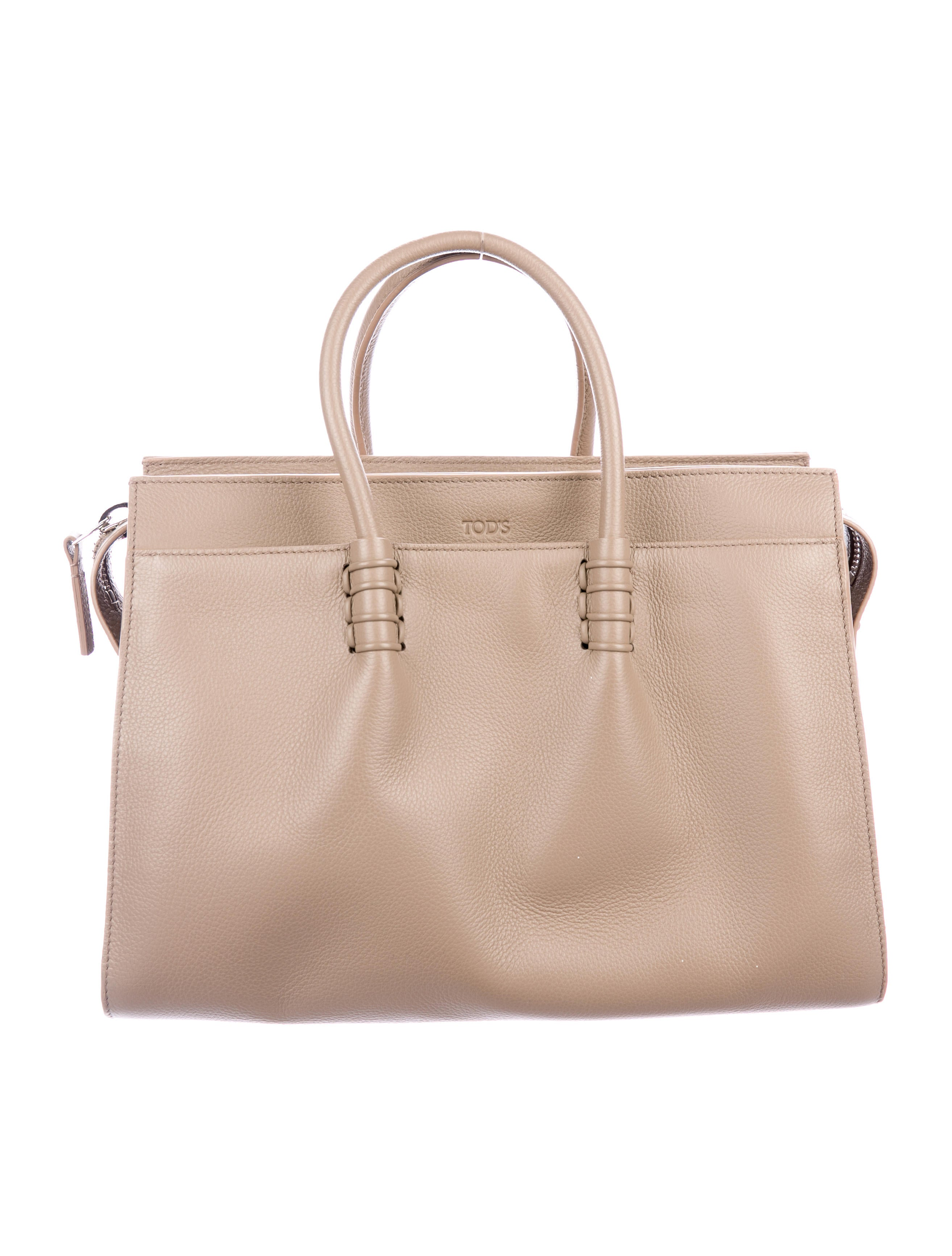 d368c173ed Tod s Grained Leather Tote w  Tags - Handbags - TOD49470