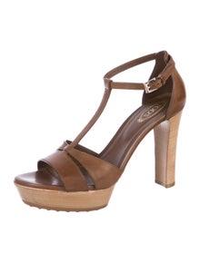 d8695ca63fb76 Tod's. Leather Peep-Toe sandals