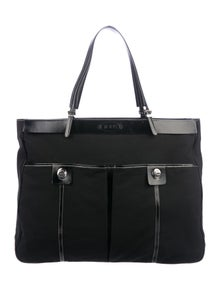 a4397165daa8 Tod s. Leather-Trimmed Tote