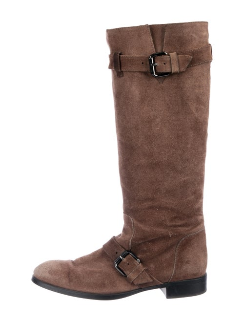 Tod's Suede Knee-High Boots Brown - image 1