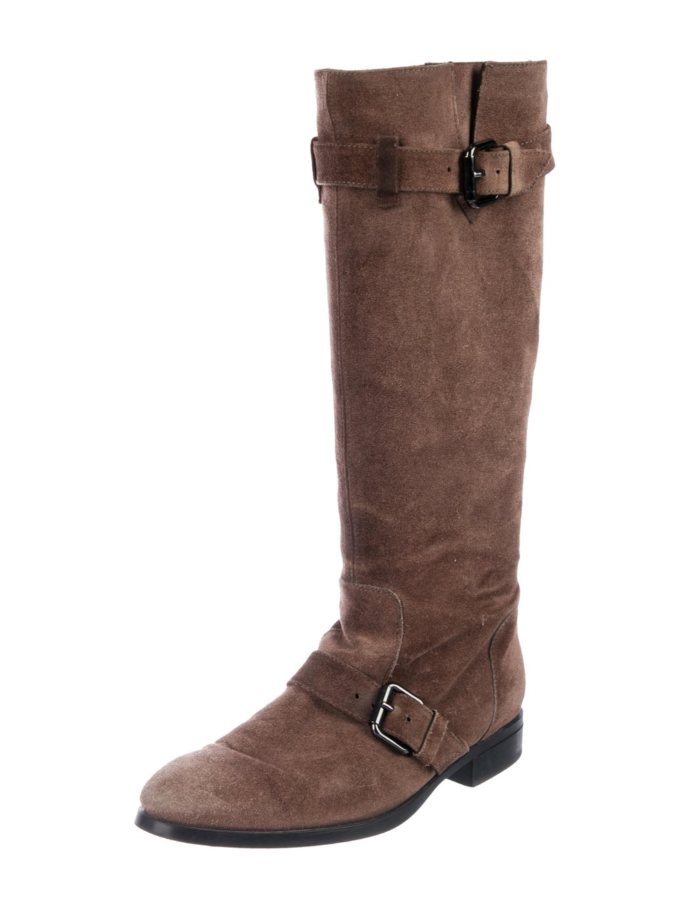 Tod's Suede Knee-High Boots Brown - image 2
