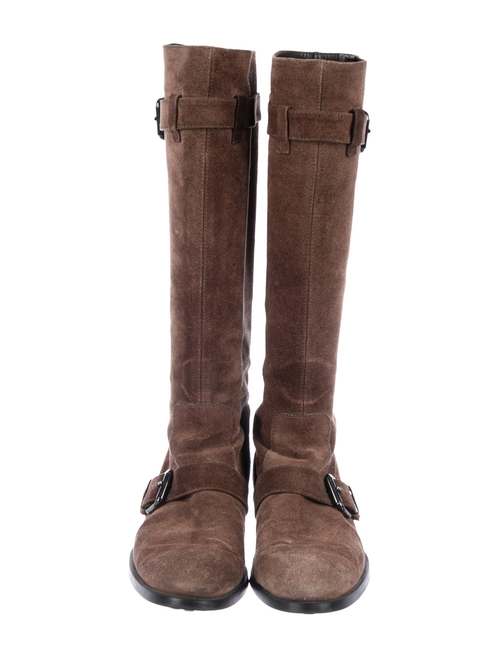 Tod's Suede Knee-High Boots Brown - image 3