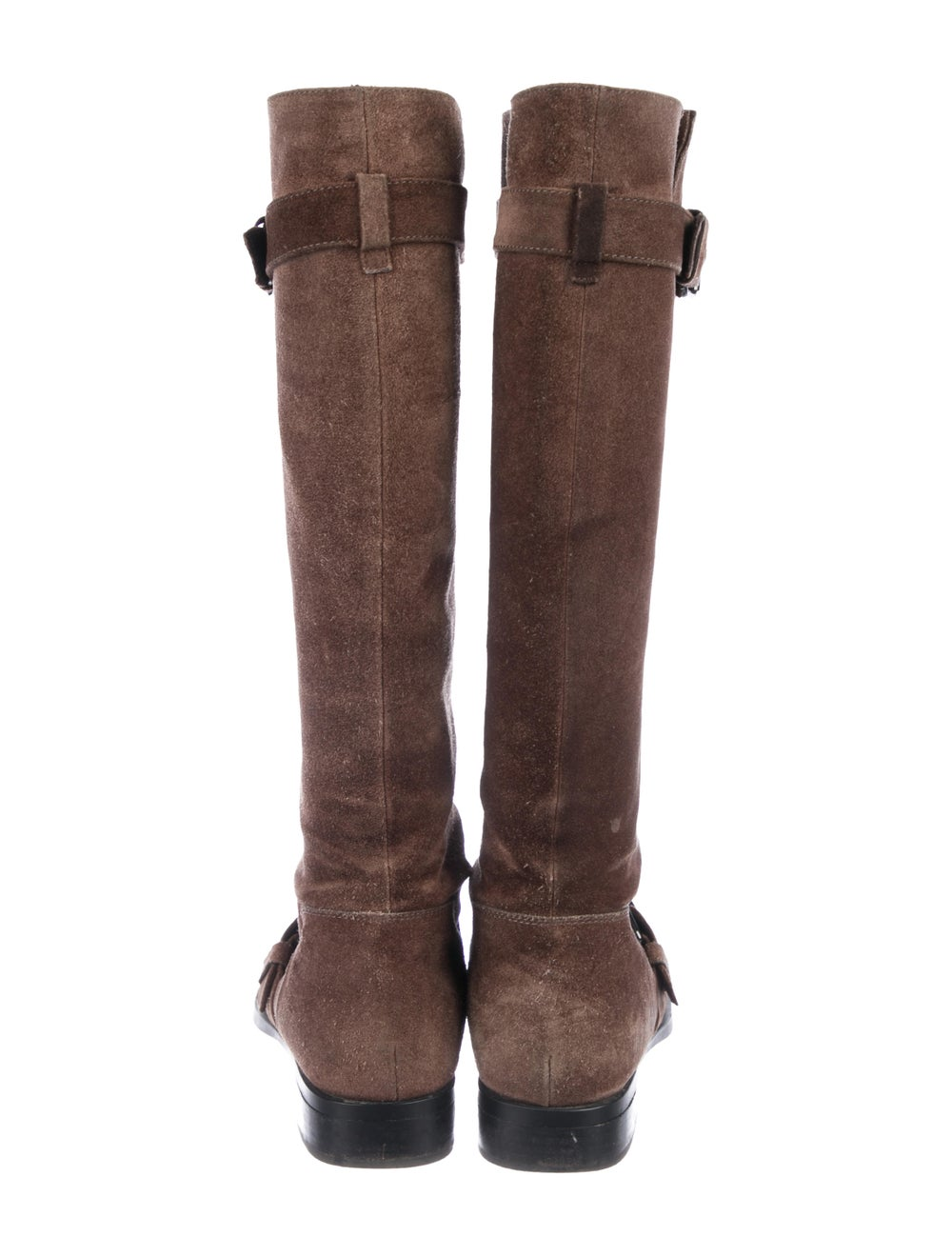 Tod's Suede Knee-High Boots Brown - image 4