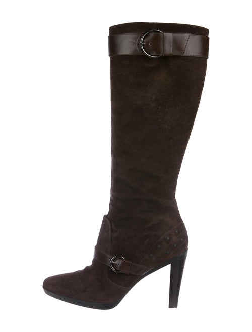Tod's Suede Knee-High Boots brown