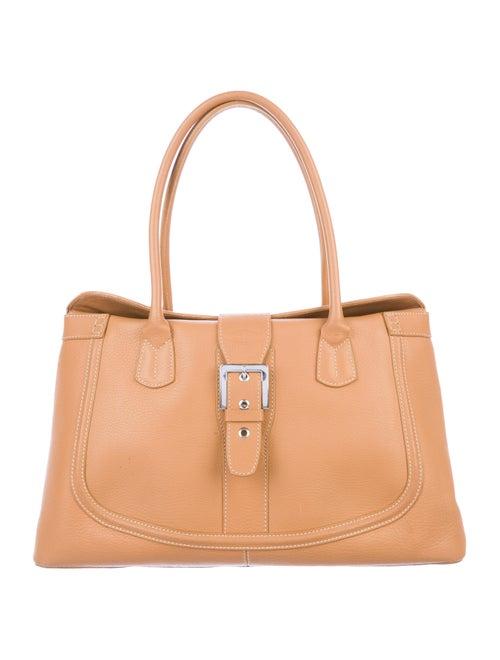 Tod's Leather Shoulder Bag silver