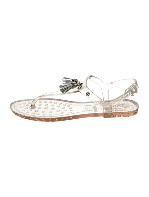 Tod's PVC T-Strap Sandals Clear