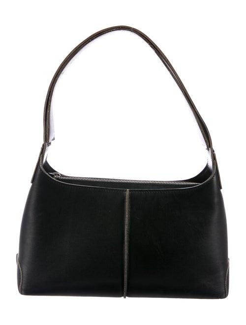 Tod's Vintage Leather Shoulder Bag Black
