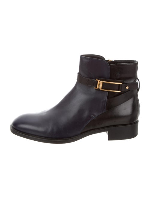 Tod's Leather Ankle Boots Navy