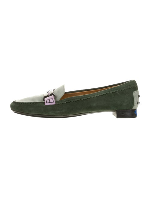 Tod's Suede Loafers Green