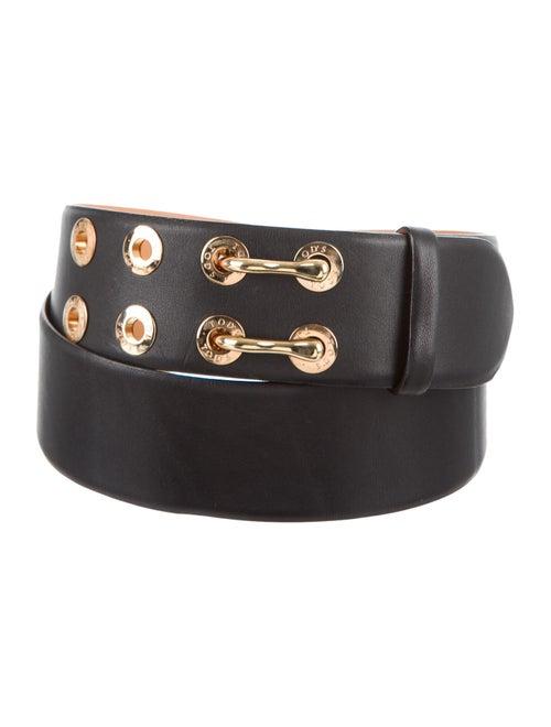 Tod's Leather Wide Waist Belt Black