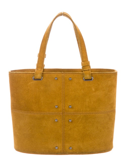 Tod's Suede Mini Tote Brown