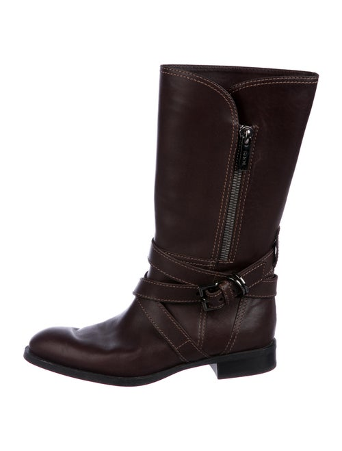 Tod's Dandy Leather Moto Boots Brown