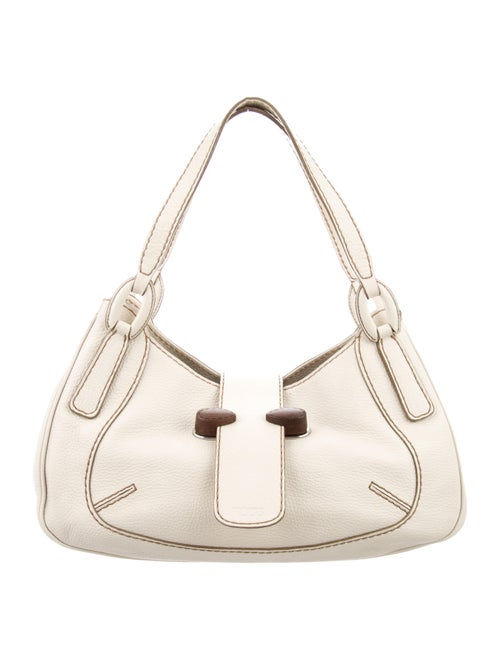 Tod's Leather Shoulder Bag Silver