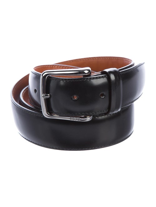 Tod's Leather Buckle Belt black