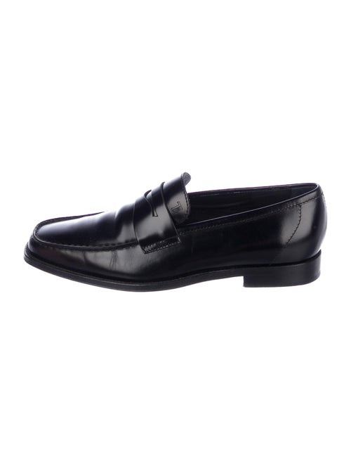Tod's Leather Dress Loafers Black