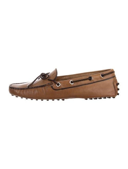 Tod's Leather Moccasins Brown