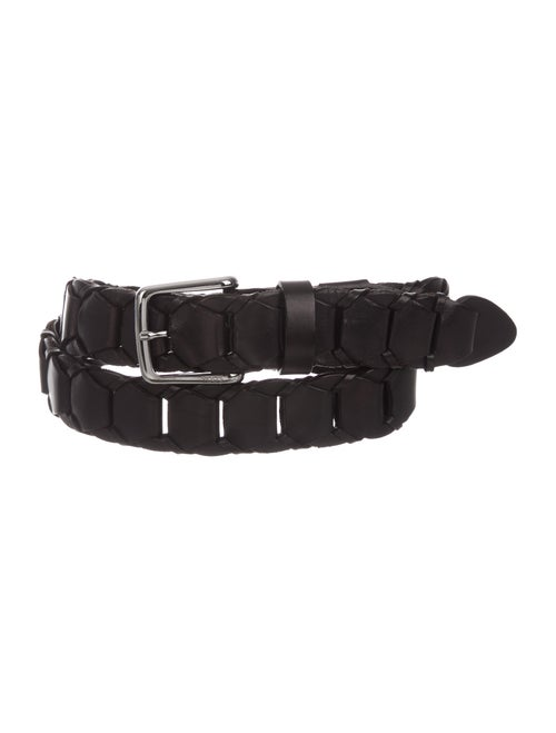 Tod's Woven Leather Belt black