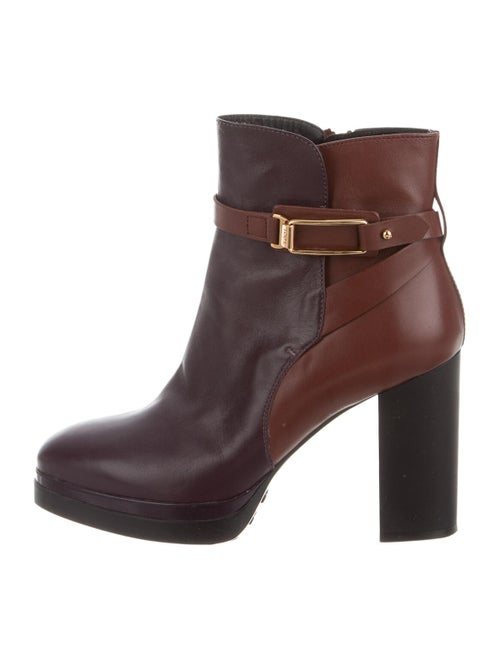 Tod's Leather Boots Purple