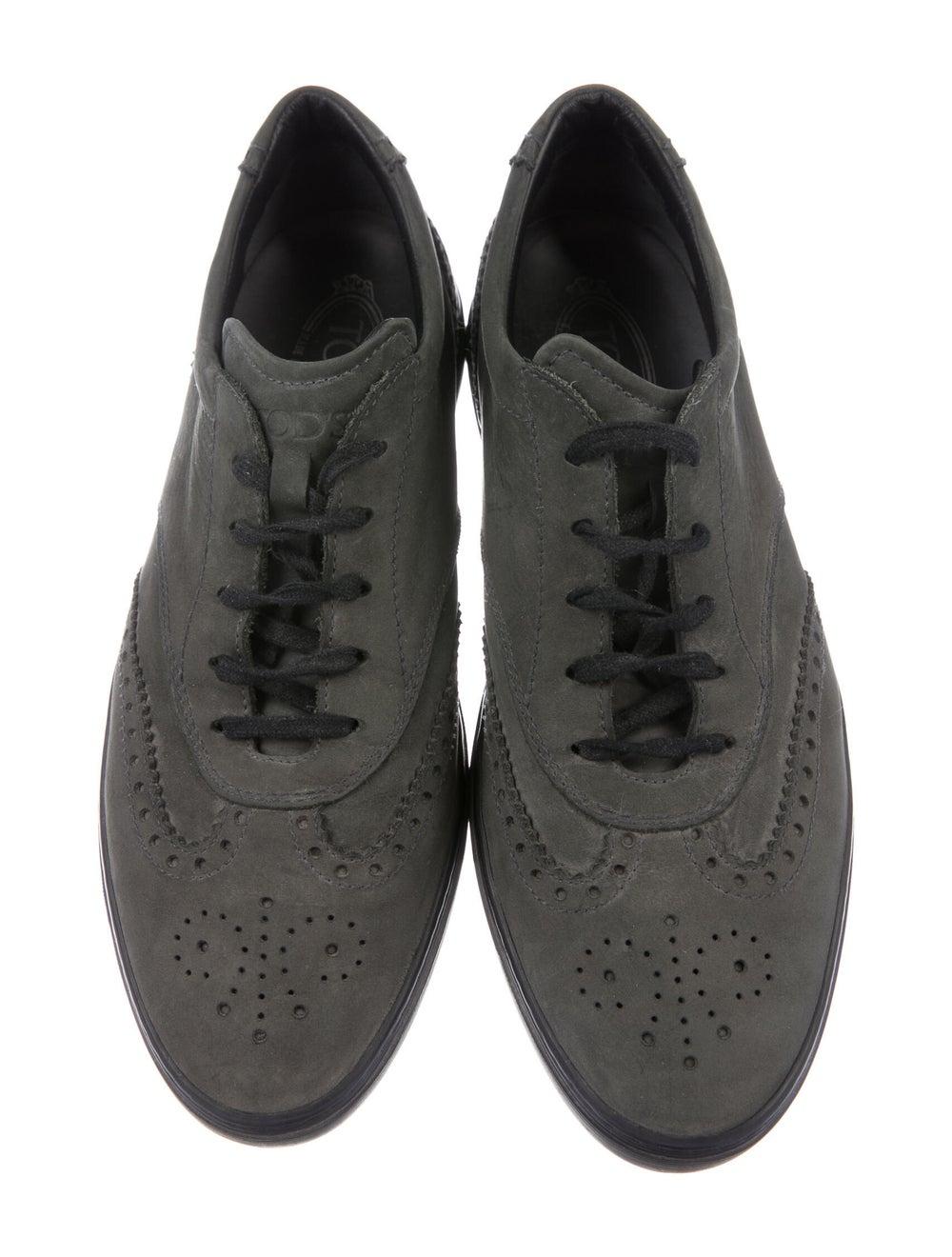 Tod's Nubuck Sneakers Green - image 2