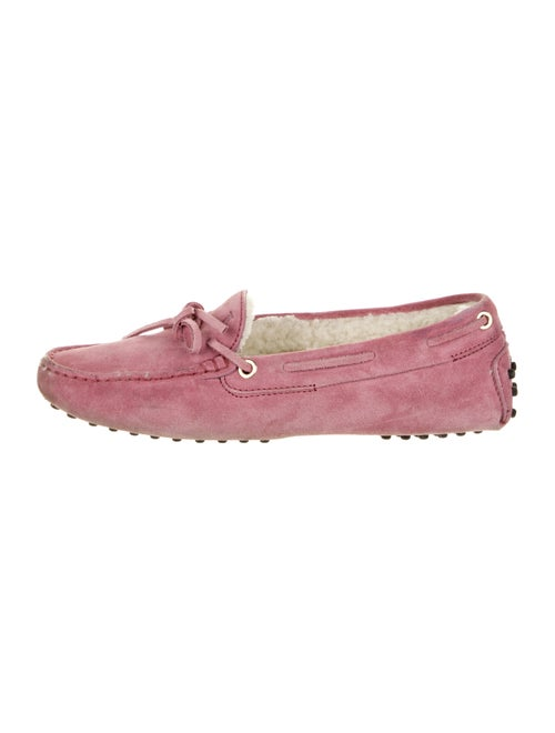 Tod's Suede Moccasins Pink