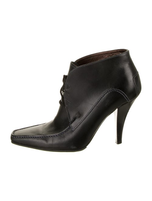 Tod's Leather Lace-Up Boots Black