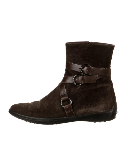 Tod's Suede Boots Brown