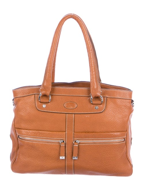 Tod's Grained Leather Tote Brown