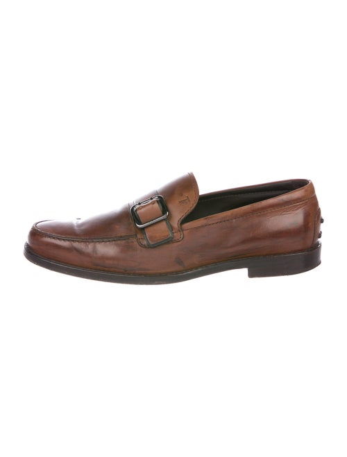 Tod's Leather Dress Loafers Brown